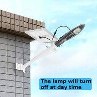 Mising наружного освещения 10 Вт 20 Вт 30 Вт 50 Вт Солнечный свет светодиодный солнечный радар Сенсор стены ночь лампа с полюс для сада и дома