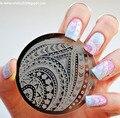 Стрелки Полосой Pattern Nail Art Шаблона Штемпеля Плиты Изображения Шаблон # Qgirl-029