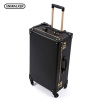 Luxury Business Genuine Leather Trolley Suitcase Pilot Captain Rolling Luggage Men S Travel Case Board Chassis