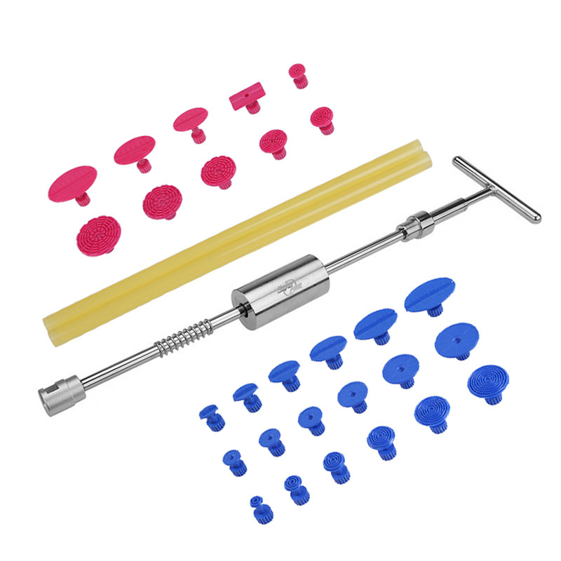Tools Dent Removal Paintless Dent Repair Tools Dent Puller Slide Hammer Puller Tabs Suction Cup Hand Tools Kit