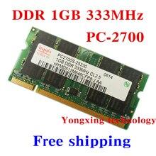 Garantie à vie Pour hynix DDR 1 GB 333 MHz PC-2700 Original authentique 1G portable mémoire D'ordinateur Portable RAM 200PIN SODIMM