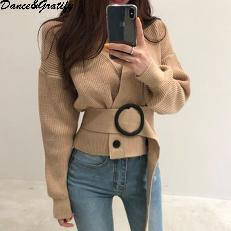New Autumn Winter High Quality Women Double Breasted Oversized Loose Cardigans Casual V neck Chic Knitting Sweater Jacket Coat|Cardigans| |  - title=