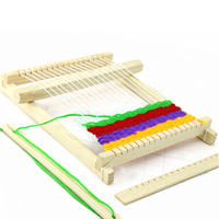Traditional Wooden Hand Knitting Weaving Loom Toy Set With Accessories Children Craft Box Mayitr Home DIY Craft Tool