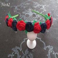 50 Pcs Fashion Stylish HOt Sale Flower Garland Floral Headband Hairband flower headband Hair Accessories free shipping 84 No.