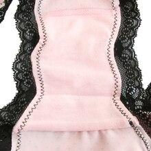 Multicolored Cotton Pleated Hem Panties