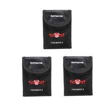 3pcs DJI Mavic 2 Pro Battery Bag DJI Mavic 2 Zoom Protective Case Storage Fire-proof Safe Box for DJI Mavic 2 Pro Accessories цена 2017