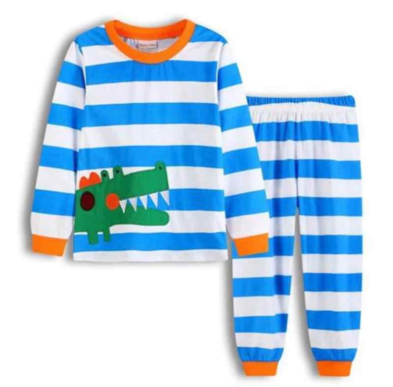 New Kids Baby Boys Cartoon Pajama Sets 2PCs Children Sleepwear for boys Homewear Sleepwear Long Sleeve Pajamas set LP024