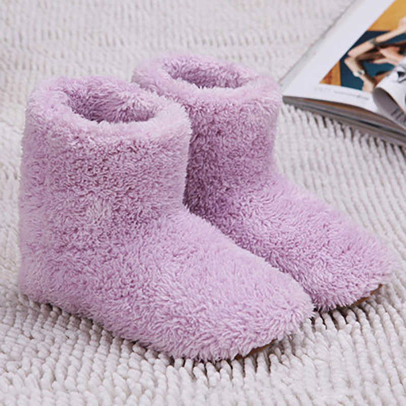 Yeni USB Isıtmalı Sıcak Ayak Kalın Flip Flop Sıcak Ayak Hazine Sıcak Ayakkabı Kış