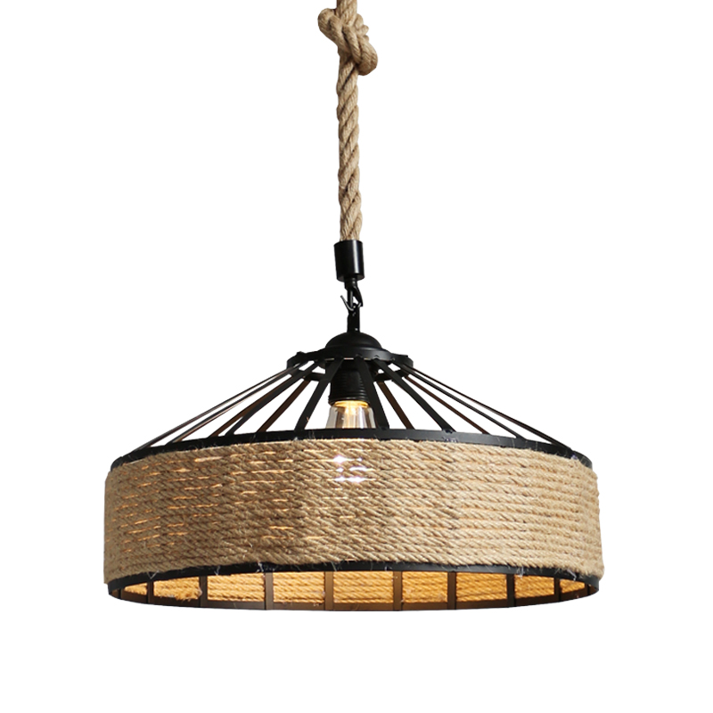 American country hemp rope chandelier clothing industry wind creative restaurant net cafe bar lamp creative personality hemp rope chandelier cafe bar decor hotel restaurant aisle american country retro water anchor lamp lights