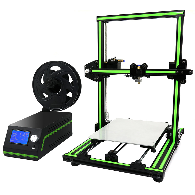 Anet E10 Easy Assembler 3d printer Reprap Prusa i3 Aluminum Frame DIY 220*270*300mm Large Print Size with Filament SD Card anet a2 high precision desktop plus 3d printer lcd screen aluminum alloy frame reprap prusa i3 with 8gb sd card 3d diy printing