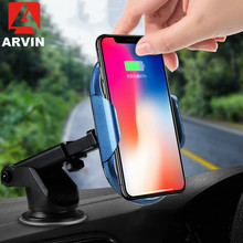 Arvin Infrared Induction Wireless Car Phone Charger For iPhone XS Max XR X 8 Samsung S9 Qi Fast Wirless Charging Stand