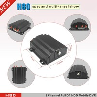 8CH Full D1 Real Time Recorder system support 8 cameras h.264 dvr xmeye cloud supports two sd card and one hdd car dvr