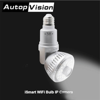 960 P HD lamp wifi camera IB-18X bulb Thuis bewakingscamera ronde lamp wit warm geel licht veilig thuis camera Zilver Goud kleur