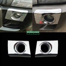 Стайлинг ABS хромированные Чехлы отделка Литье 2шт/1 лот для Hyundai Tucson 2005-2009 Автомобильный задний противотуманный фонарь лампа детектор рамка п...