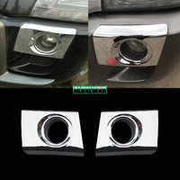 For Hyundai Tucson 2005 2009 car rear tail fog light lamp detector frame stick styling ABS Chrome covers trim moulding 2pcs/1LOT
