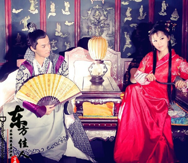 d87c8c901 2014 New Design Drama Costume Ming Dynasty Wedding Costume TV Play Perfect  Couple Jinyu liangyuan Lover's Costume