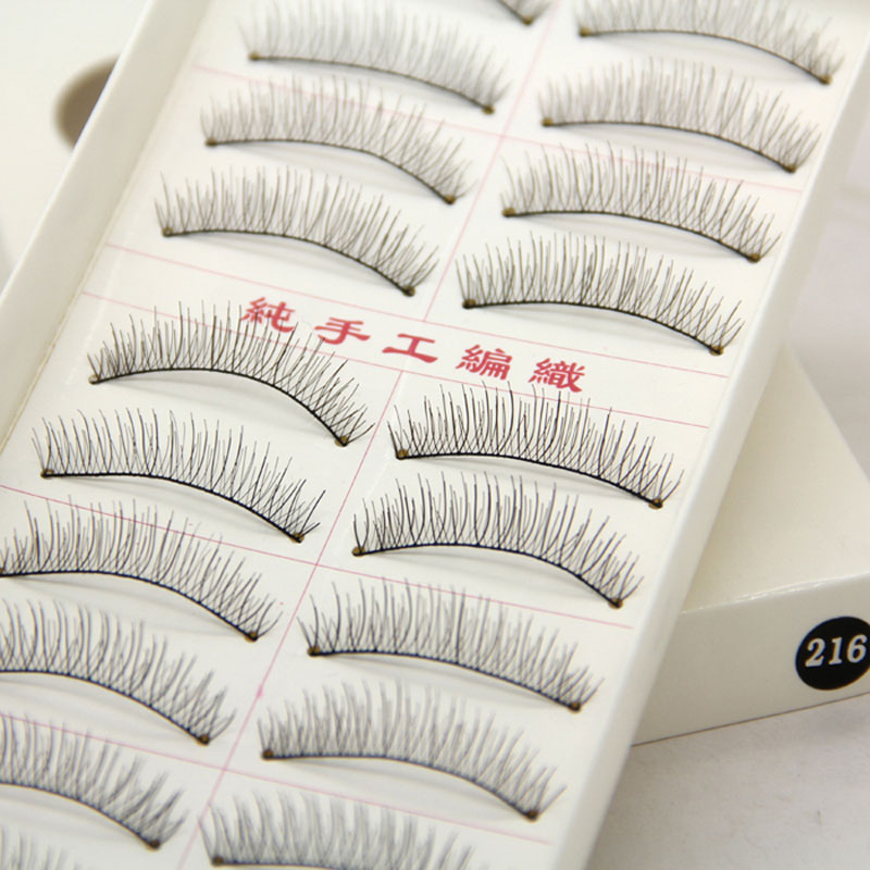 10Pair Natural False Eyelashes Soft Long Eyelash Falske Eye Lashes Extension Makeup Tool i TaiWan
