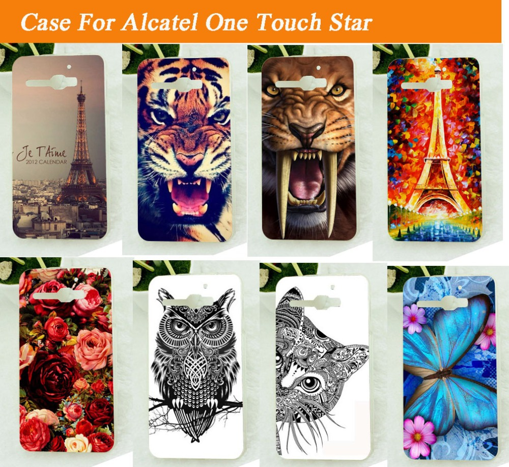 for <font><b>Alcatel</b></font> One Touch Star <font><b>6010</b></font> OT-<font><b>6010</b></font> 6010D TCL S520 Case clolorful painting skin hood diy phone case freeshipping cases image