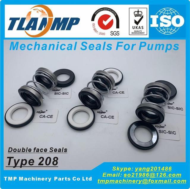 208-30 joints mécaniques TLANMP Double Face (matériau CA-CE-NBR, SiC-SiC-Vit, CE-CE-NBR)   Taille de larbre 30mm, taille extérieure 45mm