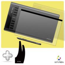 """XP-PEN Star03 Pasiva Pluma 12 """"Digital Pen Tablet Tableta de dibujo de Gráficos con Guante de Dibujo y la Película Protectora"""