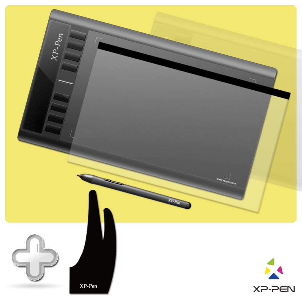 """XP-PEN Star03 stylo passif 12 """"tablette graphique numérique dessin tablette avec gant de dessin et Film de protection"""