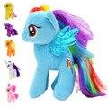 Nueva 18 cm Minecraft Mi Lindo Encantador Pequeño Horse Peluches PP algodón Poni Hors Muñeca Juguetes para Niños Juguetes de Colores Del Arco Iris