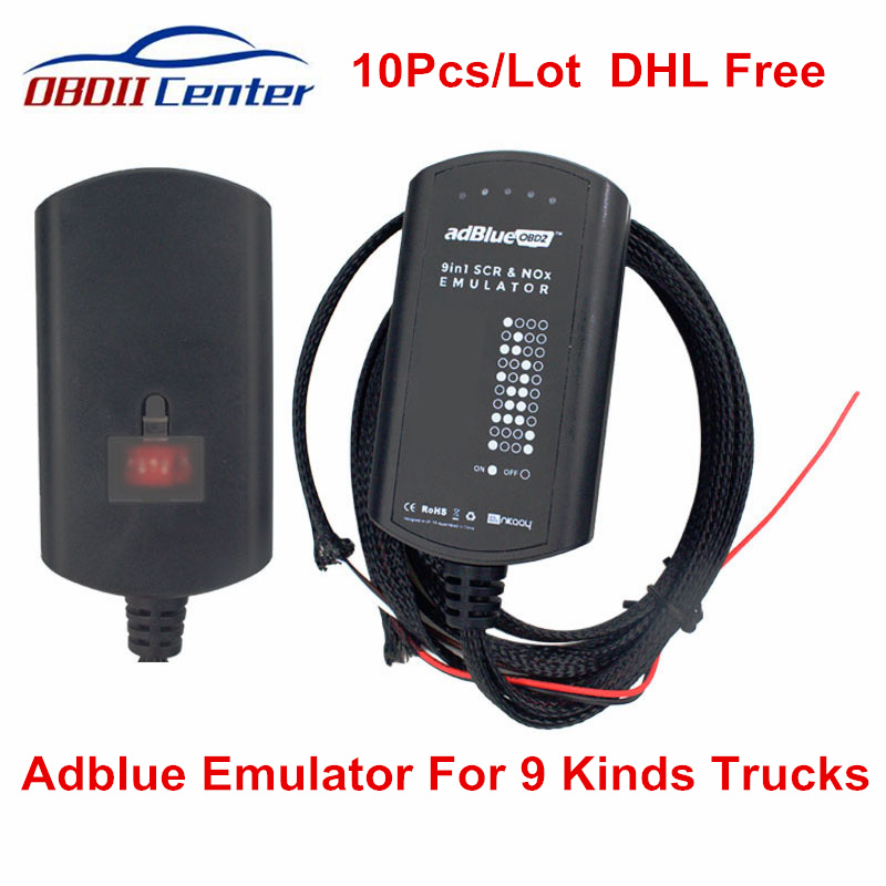 10Pcs DHL Adblue Emulator 9in1 Ad blue 9 In 1 Emulation Tool Update of Adblue 8 in 1 7 in 1 OBDII Truck Diagnostic ScannerCode Readers & Scan Tools   -