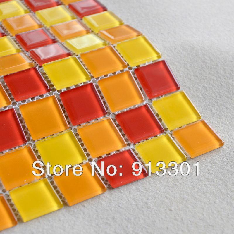 Online kaufen gro handel rot glas mosaik fliesen aus china for Schwimmbad billig