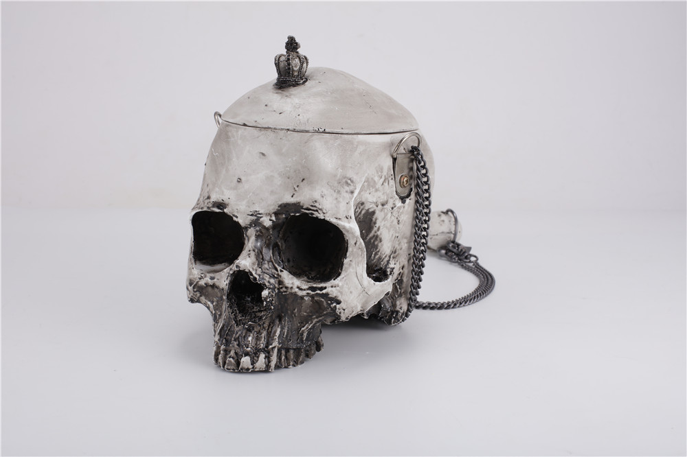 Gothic Crown & Skull Cross-Body Shoulder Bag