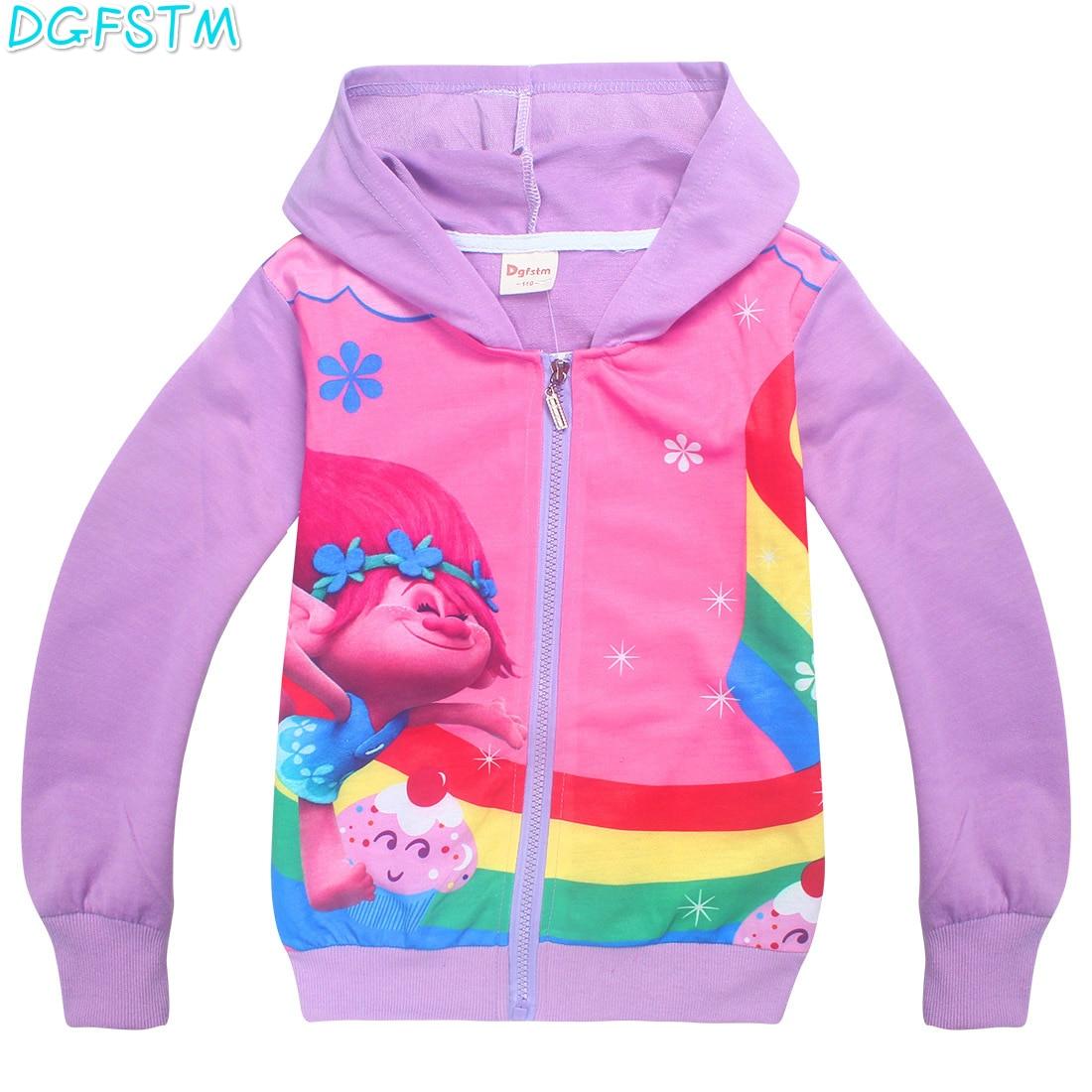 Boy Mona hooded sweater Hoodies Moana Sweatshirts Vaiana Kids Long Sleeve Casual Costume Baby Girl Tops Trolls Outwear T shirt