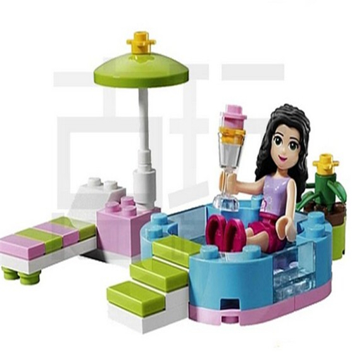 Popular And New  Friends Series Emma's Splash Pool Building Block Toys Girl Toys Assemble Toys Compatible With Legoe Friends