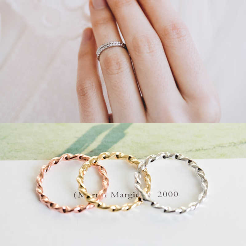 Shuangshuo Boho Geometric Spiral Round Ring Vintage Single Row Drill Rings for Women Men anillos mujer Valentine Gift Jewelry