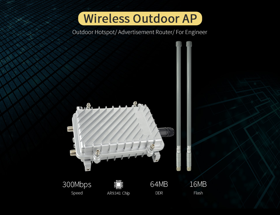 COMFAST CF-WA700 300Mbps Wireless AP Base Station Larger Area Wifi Coverage Outdoor Ap Wi Fi Router Add 2* 8dBi FRP Wifi Antenna