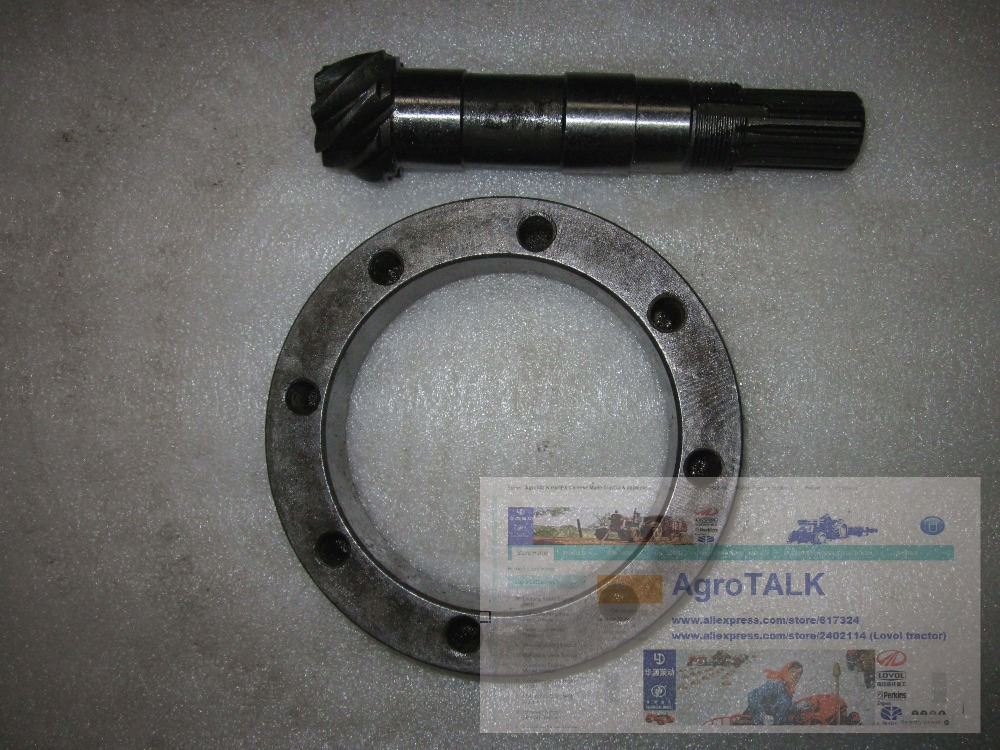 Weituo TY244 254C tractor parts, the big taper gear with driving taper gear /bevel gear with shaft shandong weituo tractor parts the upper pulling link assembly for the suspension of ty184 ty254
