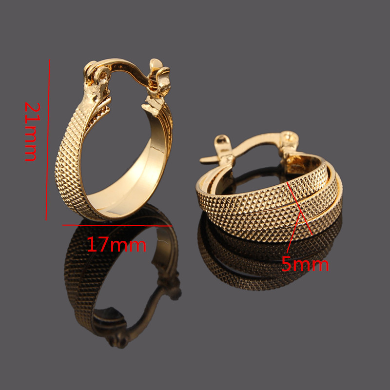 Bangrui Factory Price 2017 New Design Gold Korea Earrings Women