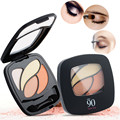 1pcs Cosmetic 4 Colors Matte Pigment Eye Shadow Palette With Brush Mirror Naked Natural Nude Shimmer Makeup Eyeshadow