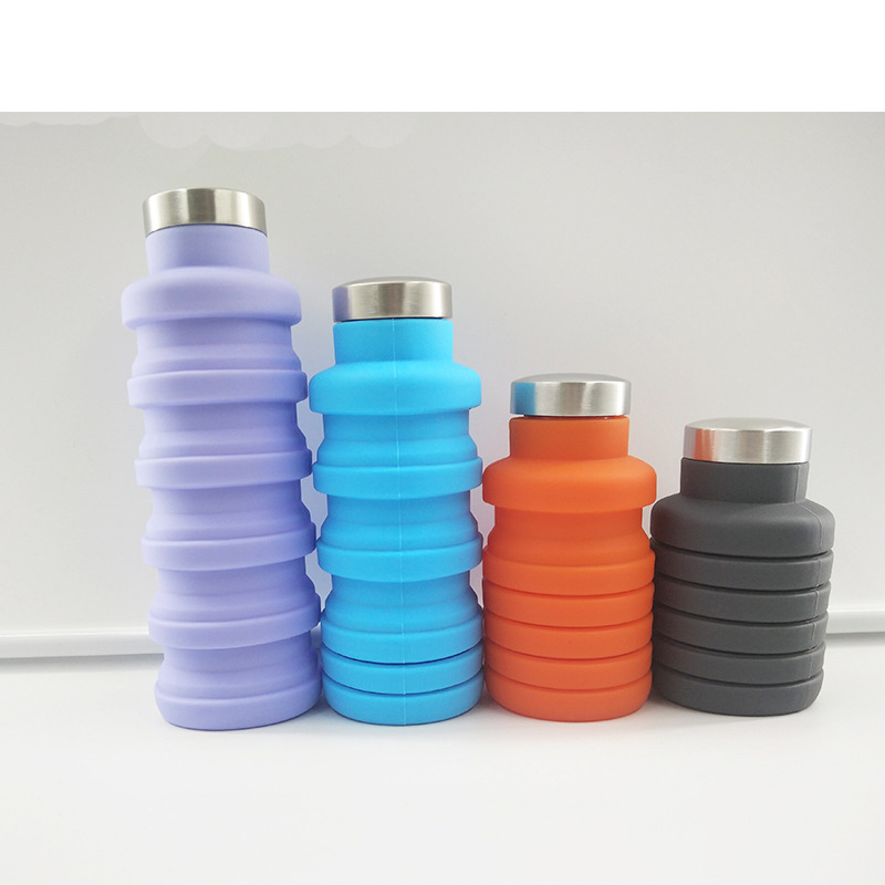 FOLDABLE WATER BOTTLE Portable Collapsible Silicone Drink Bottle for Hiking,