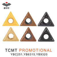 10pcs/lot ZCC.CT TCMT 16T304 TCMT110204 promotional tungsten carbide turning inserts for steel stainless steel CNC lathe tools