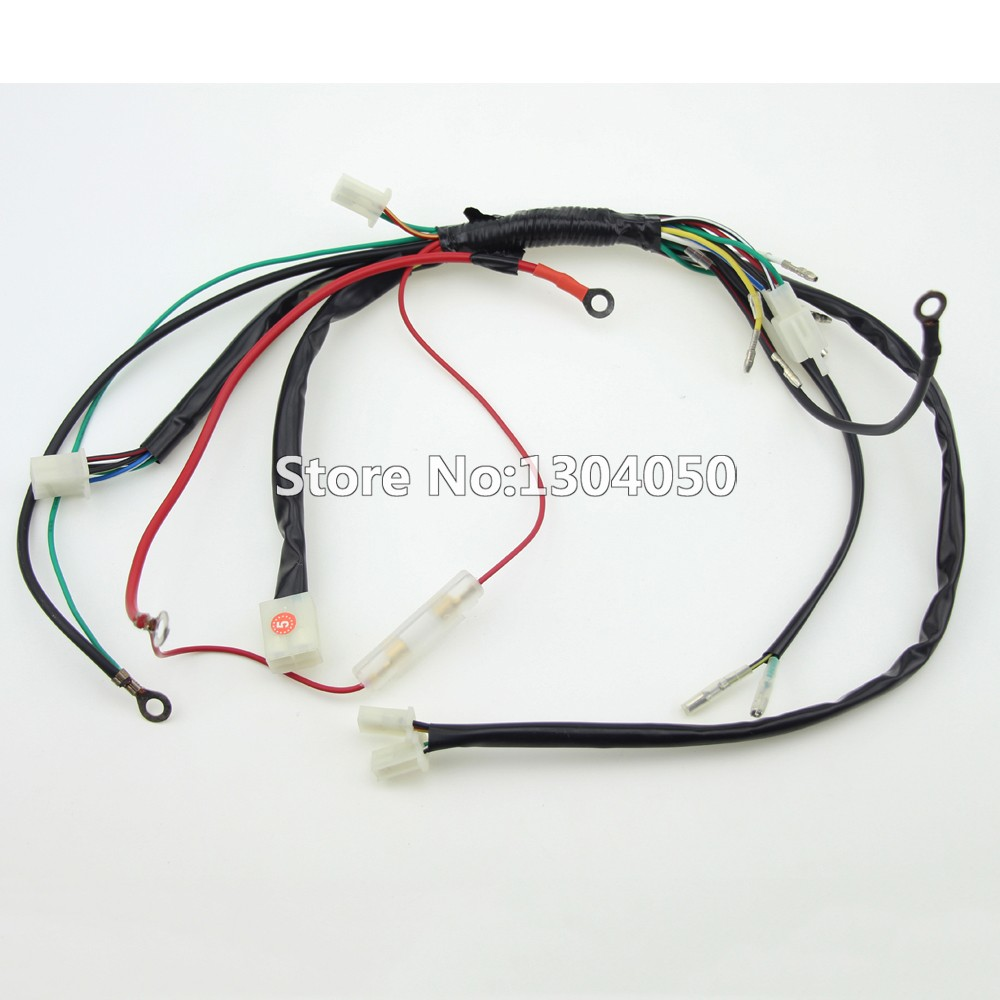 Full Electrics Wiring Harness Loom Solenoid Coil Regulator Cdi 50c Wire Components Complete Electric
