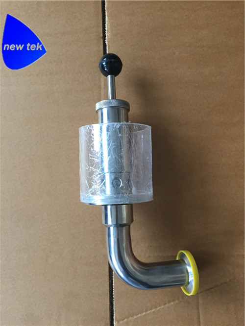 Free Shipping 1.5 in. (50.5mm OD)Tri Clamp Spunding Valve SS304 Variable Conical Fermenter Pressure Relief Valve ss304 2 1bar air release valve clamp end pressure vacuum relief valve