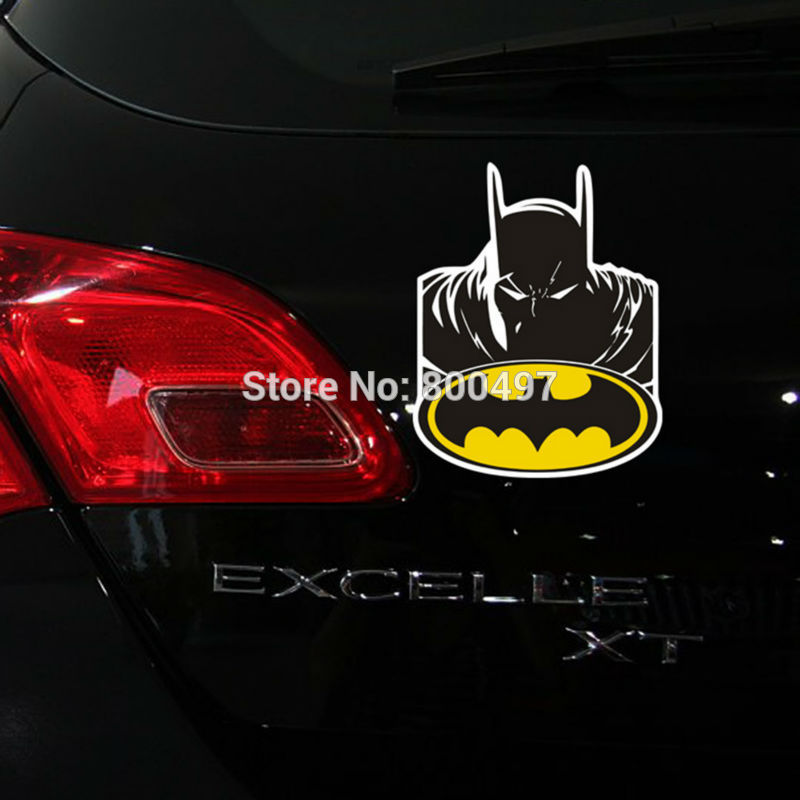 10 x Newest Design the Avengers Batman Devil Auto Decal Accessories Car Sticker for Tesla Toyota Chevrolet Volkswage Lada Ford ...