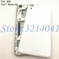 Dành cho HTC Desire 626 Full Nhà Ở Mới Lưng Pin Cửa Nhà Ở Nắp Thay Thế Trước Khung Dán Mặt Lưng + Pin + logo
