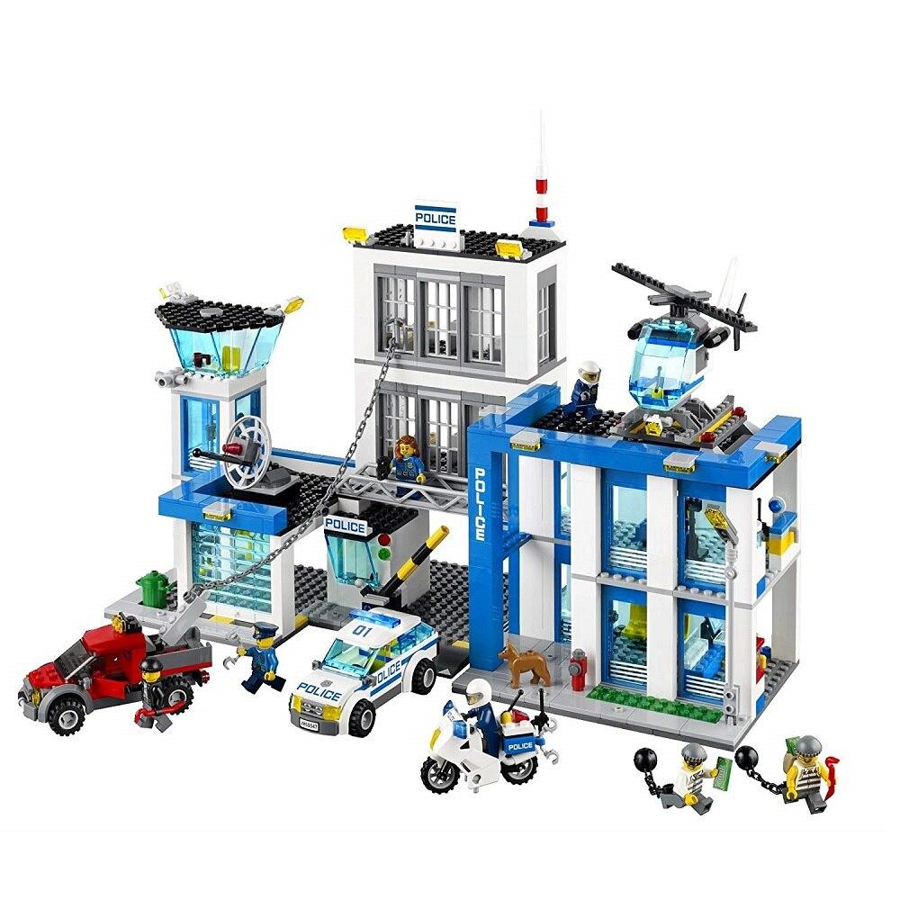 Polizei Station Kompatibel Legoe Stadt Polizei 60047 Bausteine Ziegel Modell spielzeug für Kinder kid geschenk 890Pcs-in Sperren aus Spielzeug und Hobbys bei  Gruppe 1