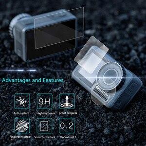 Image 2 - Temperli cam film Lens ekran patlamaya dayanıklı film için DJI OSMO EYLEM motion spor kamera Aksesuarları