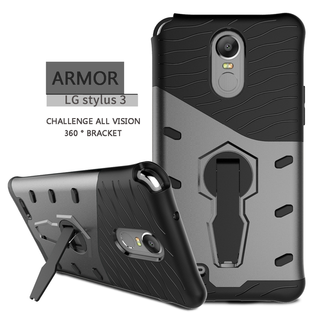 new styles 12243 e38be US $4.99 |For LG STYLO 3 Case, LONTECT Hybrid Dual Layer Shock Absorbing  Protective Case Cover with 360 Rotating Kickstand for LG STYLO 3-in Phone  ...