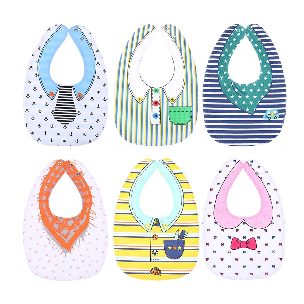 Unisex Baby Bibs Burp Bibs Double Animals Cartoon Pattern Infant Saliva Towel Four Layers Kids Feeding Waterproof Bibs Cloths