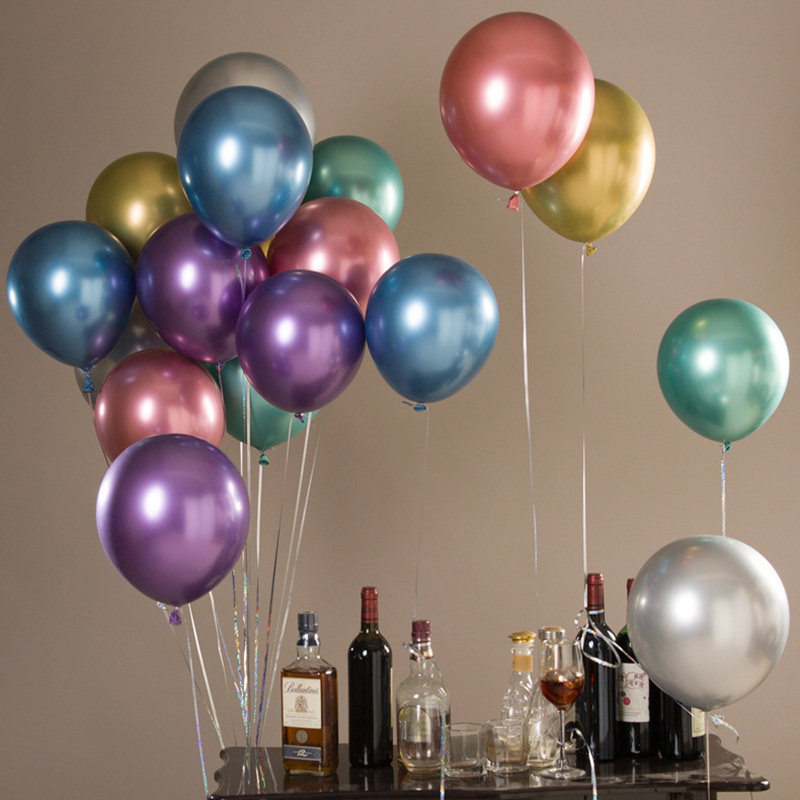 5pcs Metallic Balloons Wedding Balloon Birthday Party ...