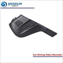 Yessun Видеорегистраторы для автомобилей для вождения видео Регистраторы для Peugeot 2008 Фронтальная камера черный ящик регистраторы Head Up Plug OEM 1080 P WI-FI телефон приложение