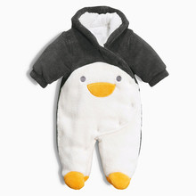 Baby winter rompers Jumpsuit fleece pajamas kids warm costume cute winter overalls for Children newborn snowsuit Panda Penguin
