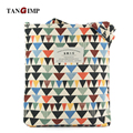 TANGIMP 2017 Hit Color Geometric Corduroy Handbags Big Eco Triangle Ethnic Women Shoulder Bags Tote bolsa compra 34*39 cm